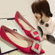AL6002SW Fashion flat shoes for lady size 34-43 high quality new women dress wedding shoes