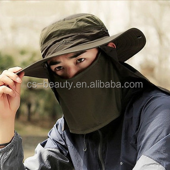 d407cf0323f89 Outdoor Sun Protection Hiking Hats Hunting Travel Cap Fishing Bucket Hat  for Men