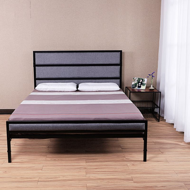 comfortable queen size metal <strong>bed</strong>