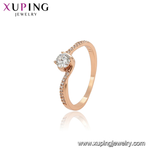 15683 Xuping latest ring designs women rose gold plated ring wholesale jewelry