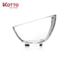 Glass bevel bowl for salad or fruits