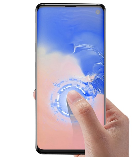 3D Curved Full Cover Tempered Glass Screen Protector For Samsung Galaxy S10 Plus Fingerprint Unlock Support