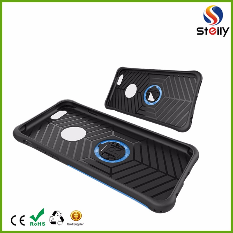 Two-in-one fall proof shell with a armor rotating bracket & TPU case for iphone7