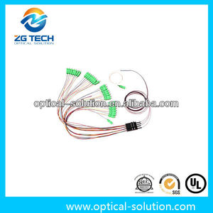 Single Mode 1x32 Fanout Steel tube blockless passive Optical Splitter LAN WAN MAN System