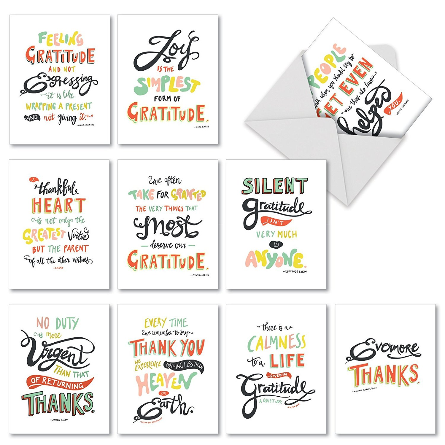 get quotations m10019bk words of appreciation 10 assorted blank all occasion note cards featuring artfully rendered