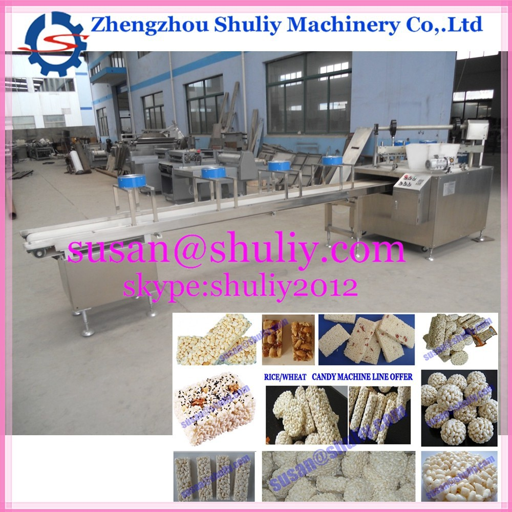 Customized rice,wheat,corn puffing cereal bar maker