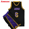 new style custom embroidery logo latest design team uniform sublimated basketball jersey