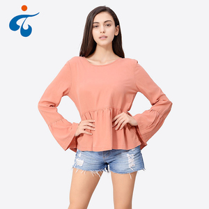 Factory supplier comfortable made in China cheap elegant women blouse