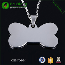 Cheap stainless steel dog tag cross maori bone pendant