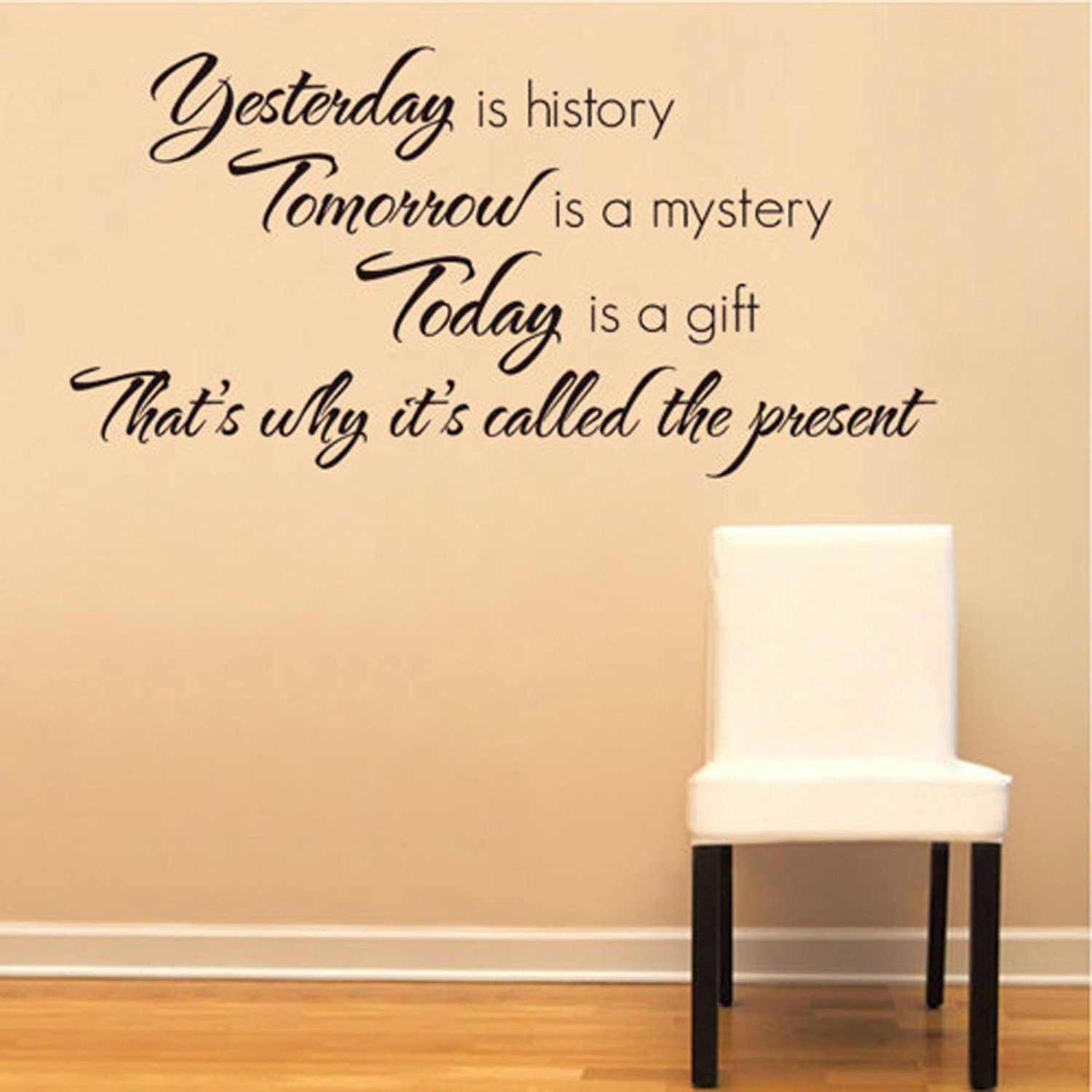 Buy Tarmader Yesterday is History Tomorrow is a Mystery letterings ...