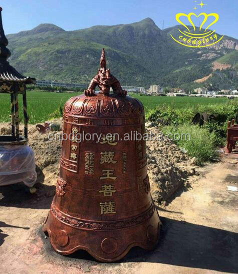 large antique bronze temple bell custom religious blessing bell