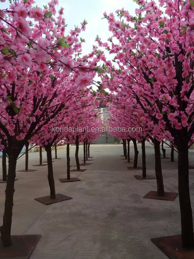 2017 hot selling artificial flower trees Artificial cherry blossom ...