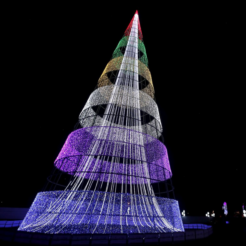 Led Lighted Outdoor Stringing Christmas Tree Lights For Exterior Decoration