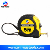 Durability rubber coated ABS tape measure/ 7.5m size waterproof resistance steel measuring tape