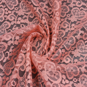 150g 100% Nylon African Cheap Dress Lace love-heart Mesh Ground Fabric For Dress Garment