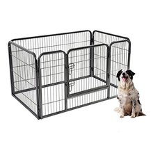Metal Pet Playpen Exercise Pen for Dogs Cats Heavy Duty Folding Out Door Fence 4 Panels Each