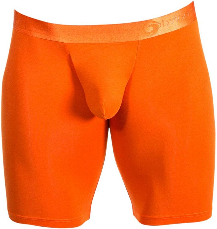 b22e0df4c095 Get Quotations · Obviously Mens AnatoFree Spectra 2 Boxer Brief 9inch Leg -  Vivid Orange