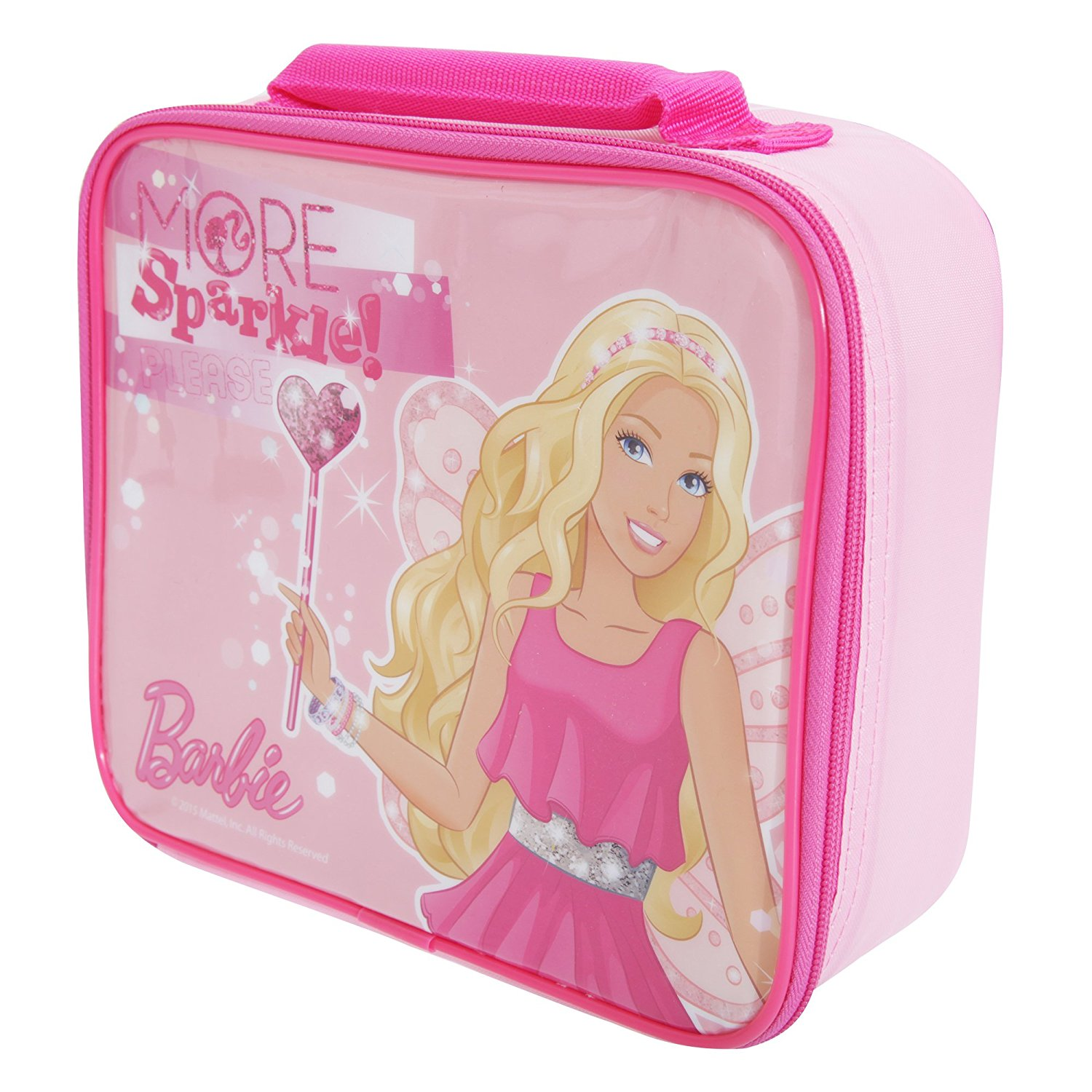 1f214650c Get Quotations · Barbie Childrens Girls Official Sparkle Insulated Lunch Bag  (One Size) (Pink)