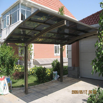 Hot Sales Low Cost Coffee Color Polycarbonate Roof Car Parking Cover ...