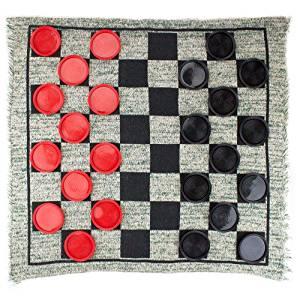Jumbo Checker Rug Game - 3 Games in 1!