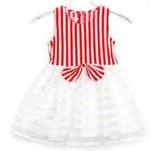 Girls font b Dress b font Kids Striped Tutu Bowknot Sleeveless font b Dress b font