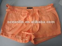 2012 new fashion ladies colored orange cotton hot shorts
