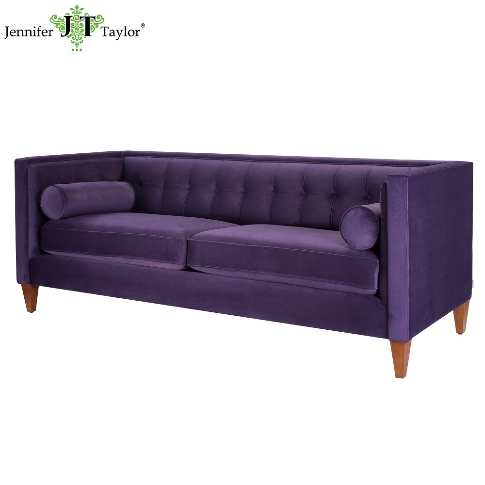 Elegant Purple Velvet Chesterfield Sofa, Purple Velvet Chesterfield Sofa Suppliers  And Manufacturers At Alibaba.com