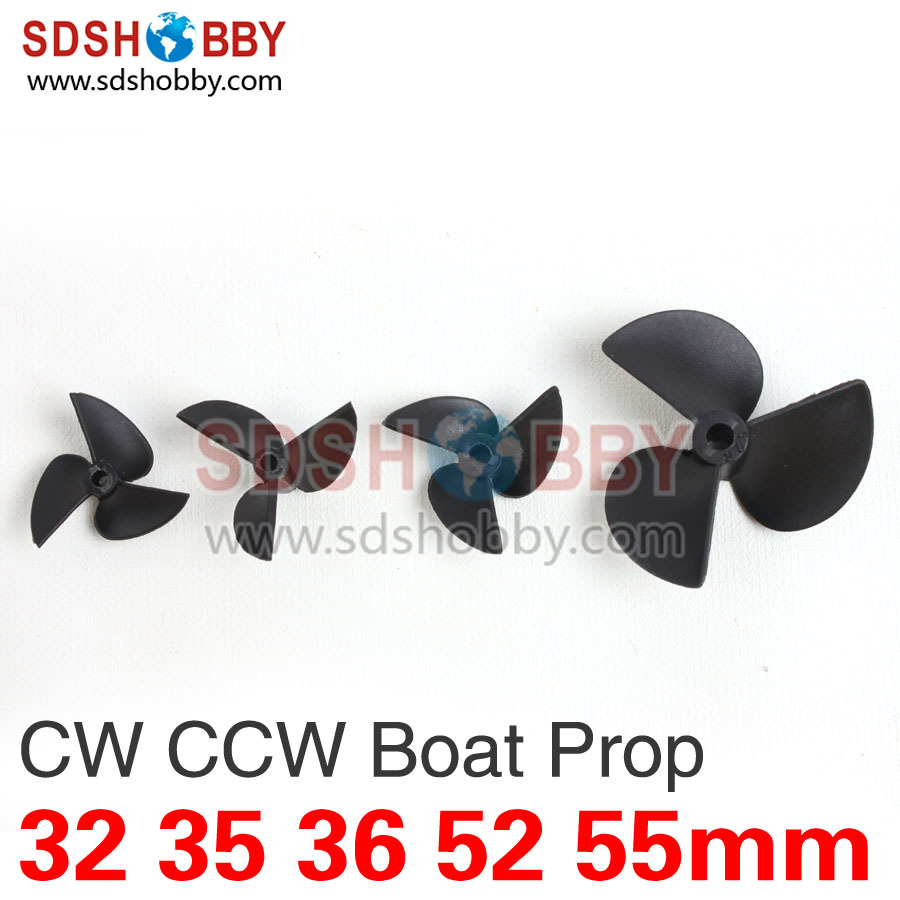 Three Blades 3 Blades Nylon Boat Propeller Positive Prop & Reverse Prop D32/35/36/52/55mm