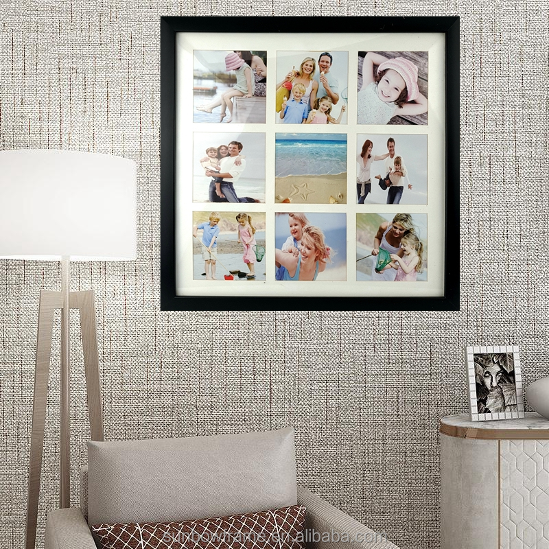 Classic black collage picture photo frame ,holds 9-5x5