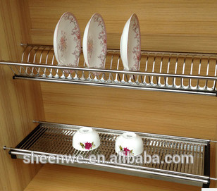 Kitchen Cabinets Storage Rack Stainless Steel Dish