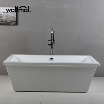 Standalone Two Sided Rectangle Acrylic Bathtub