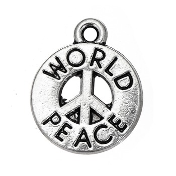 Peace symbol language world peace circle round charms jewelry buy peace symbol language world peace circle round charms jewelry aloadofball Image collections