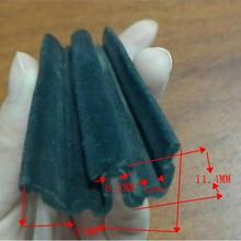flock run rubber channels seal strip for car glass window