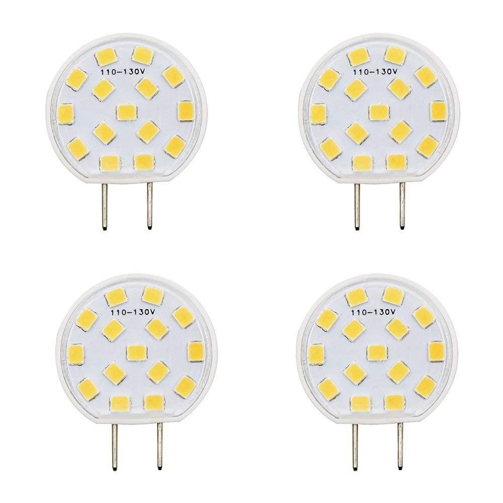 LED G8 Under-cabinet Lighting Luxvista Dimmable Ceramic JCD Type 2.5W G8 LED Light Bulb Puck Light Closet Lights120V 20W Halogen Replacement, Daylight 6000K (4-Pack)