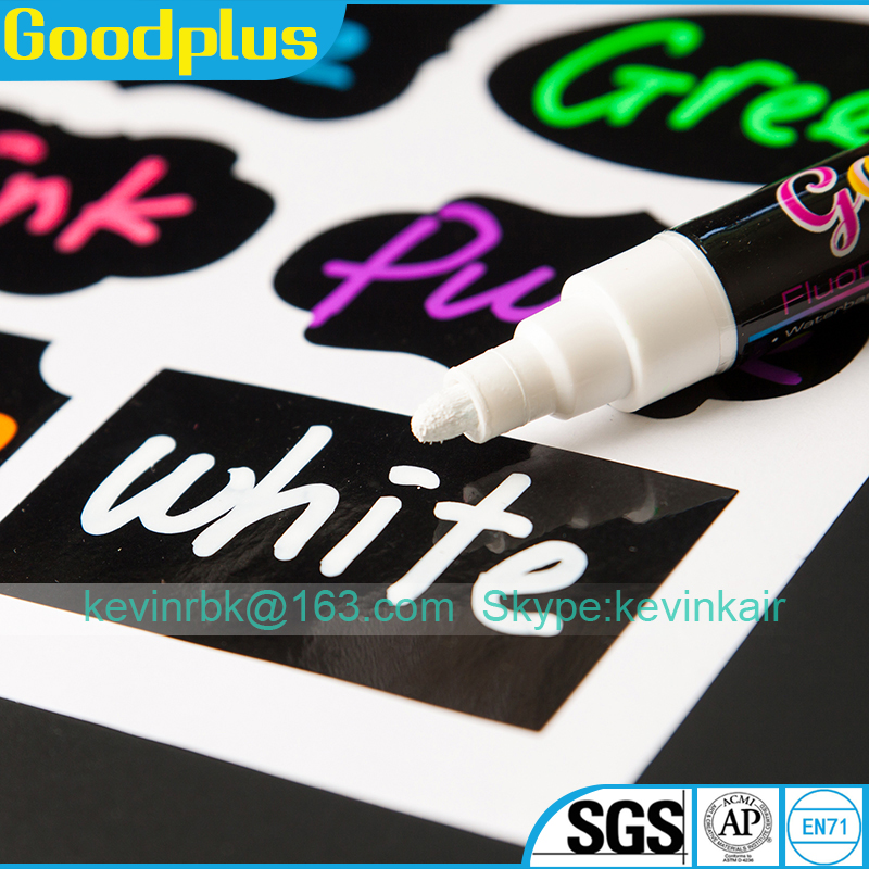 Chalk Pen : Bold White Liquid Chalk Marker with 5mm Fine Tip for Writing and Drawing - Erasable Chalkboard Label Paint Pen