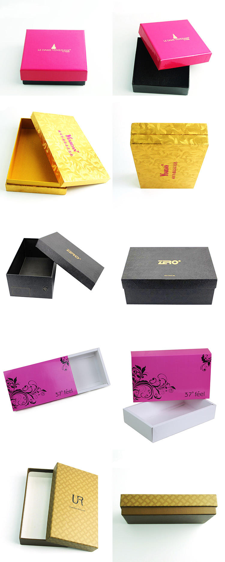 Custom luxury CMYK full color print foldable window paper box for packaging
