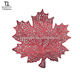 Tabletex wholesale leaf shaped table red placemat , dining plastic pvc coffee table mat
