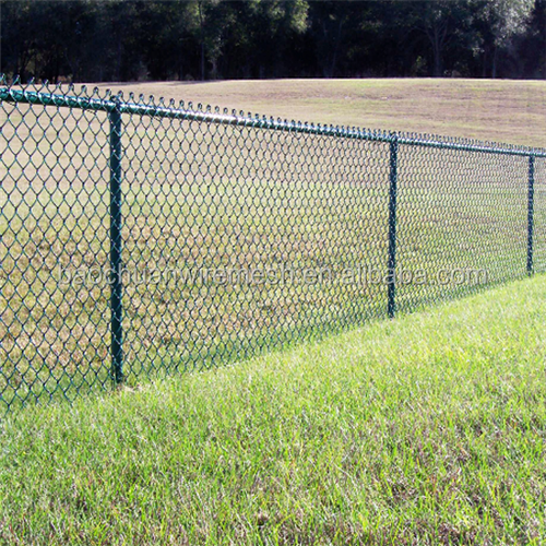 2.4mH Reasonable price easily Assembled pvc coated Chain Link Fence in China