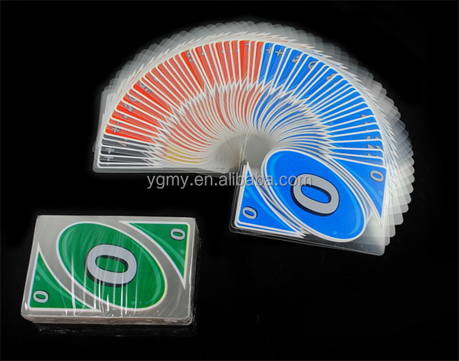Plastica trasparente a prova di acqua board game playing card family fun poker russo regole