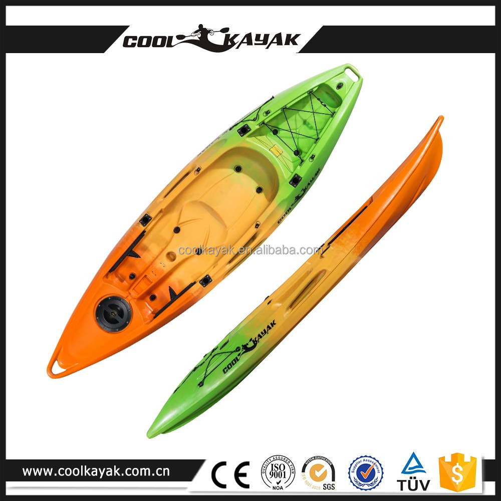 2 person sit on top plastic kayak sale rowing boat fishing canoe