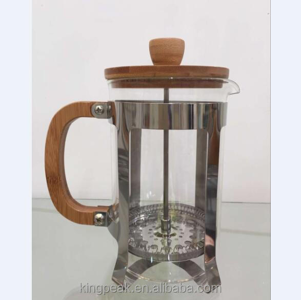 2019 Meistverkaufte 34 Unzen French Press Kaffeemaschine / Borosilikatglas French Press / Kaffeekolben mit Holzgriff