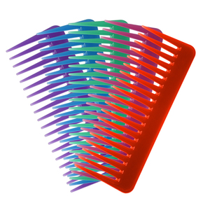 Hairdressing comb high quality ABS plastic heat-resistant large wide hair brush detangling wide tooth comb