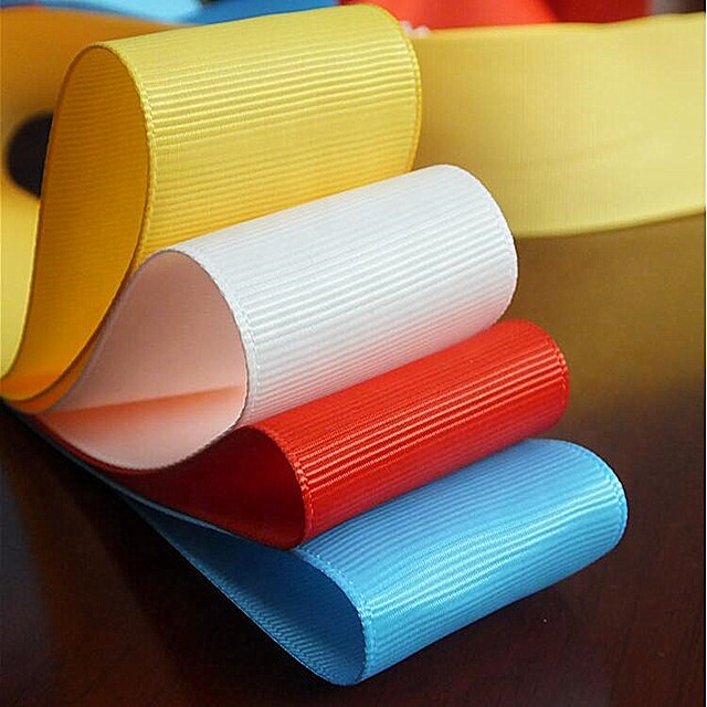 Custom Width Black and color grosgrain ribbon Polyester ribbon