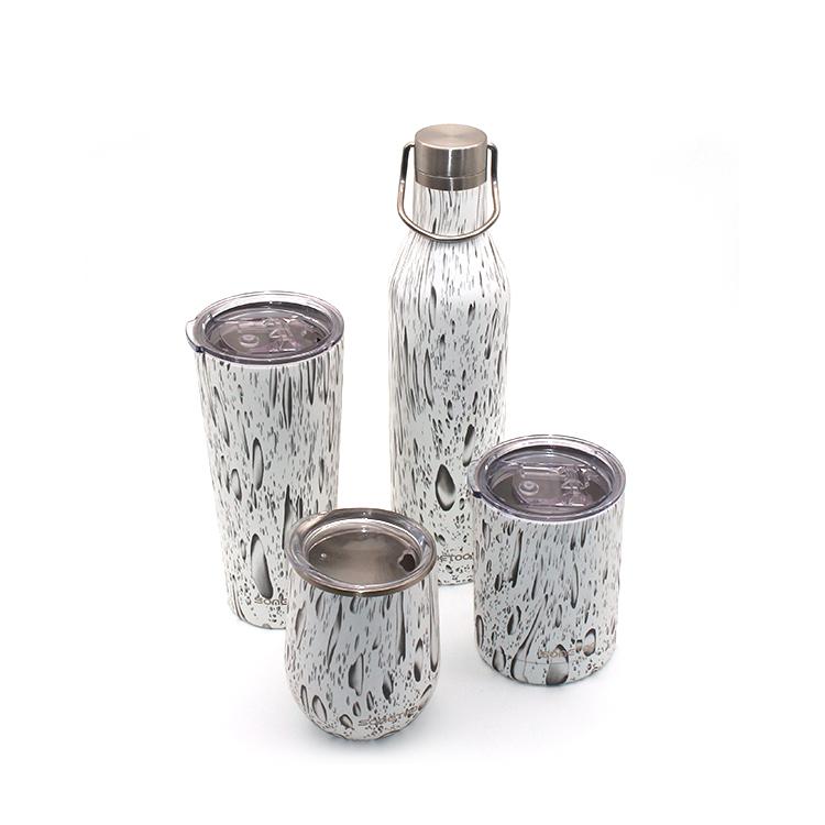 المحمولة الأبيض الفولاذ المقاوم للصدأ القهوة الشاي عادي السفر القدح سفر زجاجة فارغة