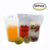 100 Pack Clear Drink Pouches Bags Food Storage Bags Reusable Snack Bags with 100 Drink Straws