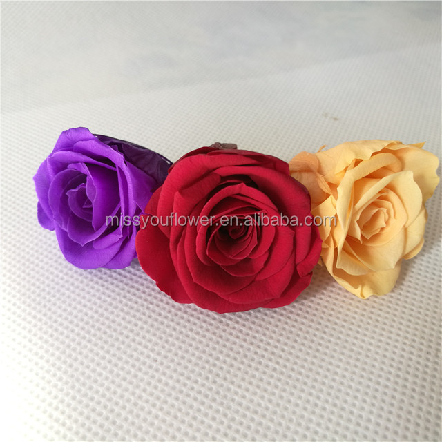 Wholesale preserved roses flowers 3-4cm red color eternity rose from Kunming