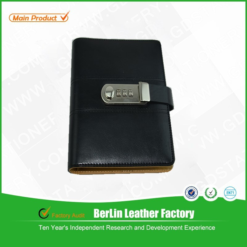 Alibaba China factory price! A5 size 6 ring PU/leather notebook with card holder for planner or oranger