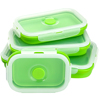 China plastic products factory biodegradable Silicone Rectangle Collapsible takeaway Food Container Lunch Box