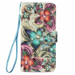 Online shopping pretty flowers design PU leather cell mobile phone case cover for Red Mi Note 4X