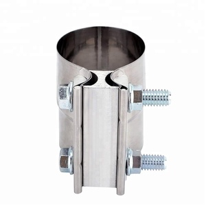 Stainless Steel Lap Joint Exhaust Band Clamp With 1 Block